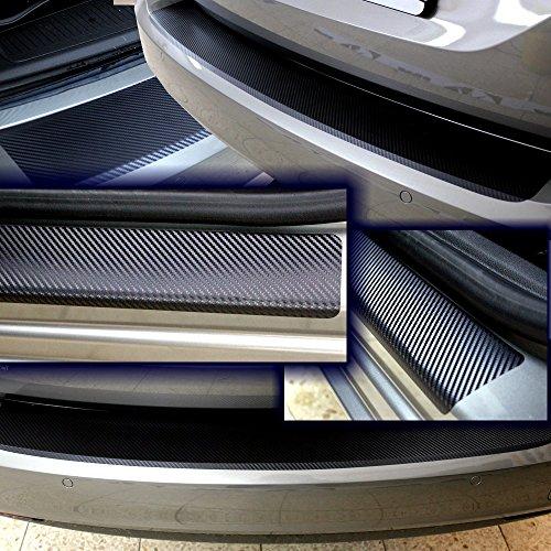 Preisvergleich Produktbild SparSet Ladekantenschutz & Einstiegsleiste Schutzfolie CARBON 3D Auto Folie Lackschutz 10012-2215