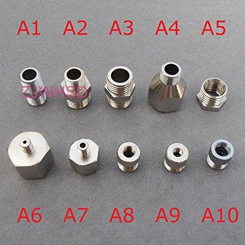 ABBOTT Adapter-Anschluss-Set für Kompressor Airbrush-Schlauch, 10