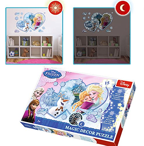 Disney Party Spiel Frozen (Brigamo 51641 - Disney Frozen Eiskönigin magisches Puzzle - leuchtet im)