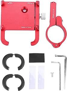 Fahrrad Handyhalter Aluminium Universal Bike Phone Mount Fahrradhalter Lenker Clip Ständer Halterung Für 22 2 31 8mm Rot Sport Freizeit