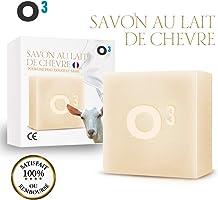 O³ Savon Lait de Chevre-Savon Exfolliant fait main-Combat l'acné, soulage l'eczéma-100gr de savon artisanal