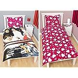 One Direction 1DSH1 - Edredón para cama 90 (reversible), diseño de One Direction Sweetheart