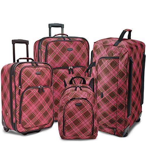 us-traveler-4-piece-casual-luggage-set-pink-brown