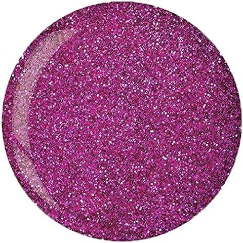 Cuccio Pro Dip System Powder Nail Polish - Fuchsia Pink Glitter 45g