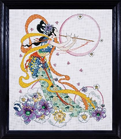 "Flute Player Counted Cross Stitch Kit-16""X20"" 14 Count"
