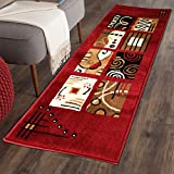 The Home Talk Multicolor Classy Modern Look Carpet / Rug / Passage / Floor Mat ( 50 X 150 cm ),(Red)