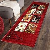 #1: The Home Talk Multicolor Classy Modern Look Carpet / Rug / Passage / Floor Mat ( 50 X 150 cm ),(Red)