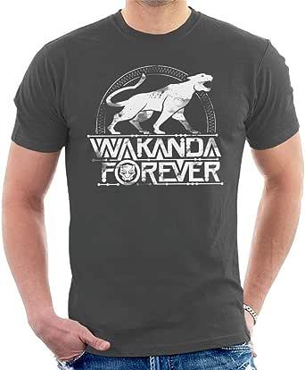 Marvel Black Panther Wakanda Forever Roaring Cat Men's T-Shirt