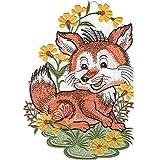 Fensterbild ''Plauener Stickerei ''Fuchs'' (inkl. Saughaken)