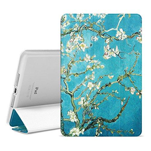 Ayotu Case für iPad Mini 1/2/3, Auto Wake/Sleep mit transluzentem Frosted Back Magnetische Abdeckung für Apple iPad Mini 1 (2012) / iPad Mini 2 (2013) / iPad Mini 3 (2014) -Die Aprikosenblüte (Mini, Magnetische Abdeckung Apple Ipad)
