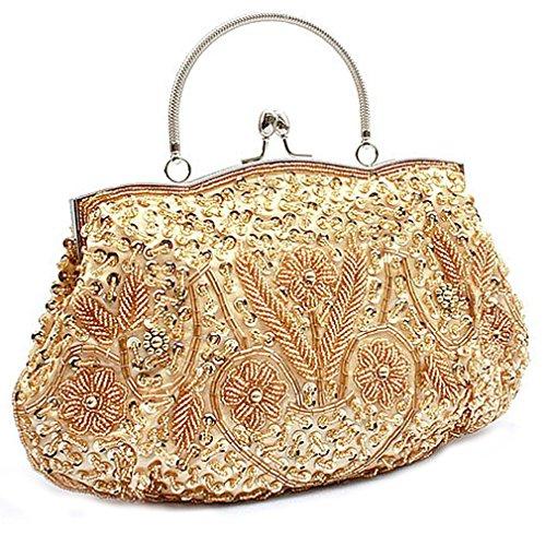 Belsen , Damen Schultertasche beige champagnerfarben Einheitsgröße Gold