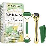 Derma Roller, Jade roller, Microneedle Derma Roller, Rodillo Facial de Jade, Facial Masaje Piedra Gua Sha, Anti Aging Belleza