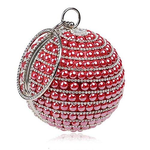 NAOMIIII Damen Sparkly Party Abend Braut Prom Hochzeit Ladies Kupplung Tasche Red