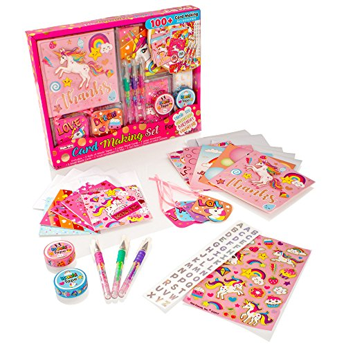 Style Girlz Unicorn Card Making Set - Childrens Arts and Crafts Kit For Girls