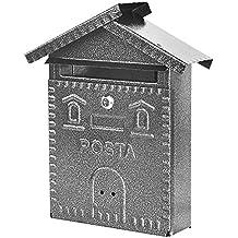 Vigor Blinky 27342-20 Cassetta per Lettere in Ferro, Forma Casetta, 28x9x35, Antracite - Del Ferro