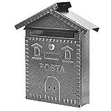 Vigor Blinky 27342-20 Cassetta per Lettere in Ferro, Forma Casetta, 28x9x35, Antracite