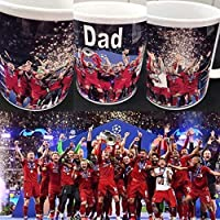 Liverpool championship Winners Personalised Football Gift Mug 6 Cup Winners 2019 fathers day gift