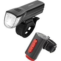 FISCHER USB Beleuchtungs-Set mit innovativer 360° Bodenleuchte für mehr Sichtbarkeit und Schutz   Frontlicht 30 Lux