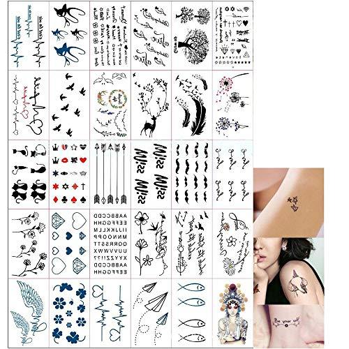 Limeo klebetattoos adultos Tattoo Pegatinas piel resistente