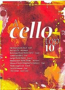 A CELLO TOP 10 mit Bleistift -- die 10 beliebtesten klassischen Melodien wie AIR (Bach), LARGO (Händel) und DER SCHWAN (Saint-Saens) in mittelschweren Arrangements für Violoncello und Klavier (Noten/sheet music)