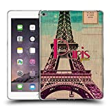 Head Case Designs Eiffelturm Paris Frankreich Schönsten Orte Der Welt Vintage Postkarten Soft Gel Hülle für iPad Air 2 (2014)
