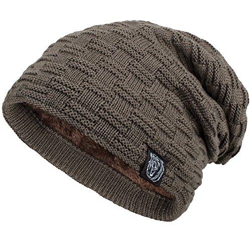 ANVEY Slouch mütze winter ski Beanie hut unisex Braun