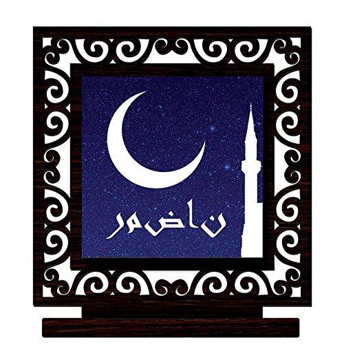 CRAZYINK Printed Eid al-Adha Wooden Home Décor Showpiece | Design 10 |...
