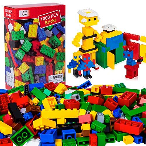 NEEGO Bausteine 1000 Stück Bauklötze Spielzeug Hochbau Ziegel Bunte Spielzeug Spielen Spiel für Kleinkind Jungen Mädchen Unisex Kühle Lernspielzeug Kompatibel mit den Meisten Großen Markenblöcken