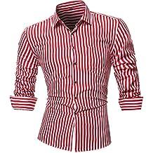 Blusa de Hombre, Polo de Hombre, Camisetas de Hombre, BaZhaHei, Blusa de Las Blusa Superior de Hombres de la Personalidad Rayada Impresa Camiseta de Manga ...