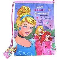 Personalized Girl's Disney Princess Drawstring Swim Gym Sports Bag