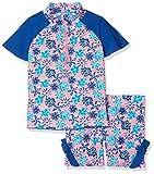 Playshoes Mädchen Tankini 2 tlg. Bade-Set Veilchen mit UV-Schutz, Mehrfarbig (Lachs 41), 110 (Herstellergröße: 110/116)