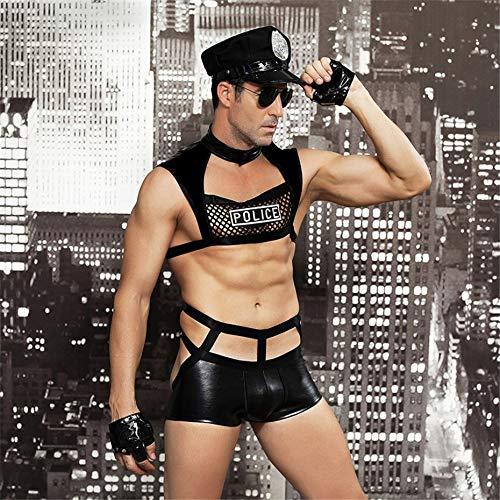 Hot Cop Kostüm Männer - Hot Male Sexy Polizei Kostüm Schwarz