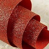 Speedcoming Chunky Home Decor Sparkle Papier Peint De Paillettes Pour Salon Revêtement Mural Rouge