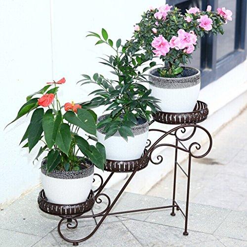 lqqgxl soggiorno aiuole fiorite balcone aiuola 3 strati stand di fiori (colore : bronzo)