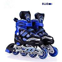 E - Royal Shop Size Adjustable PU Wheels Aluminium-Alloy Skates (Multicolour)