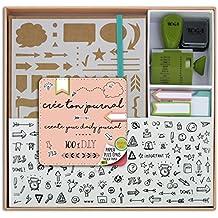 Toga KT74 Kit Bullet Journal Carnet Kraft 15, 5 x 21, 5 x 1, 5 cm