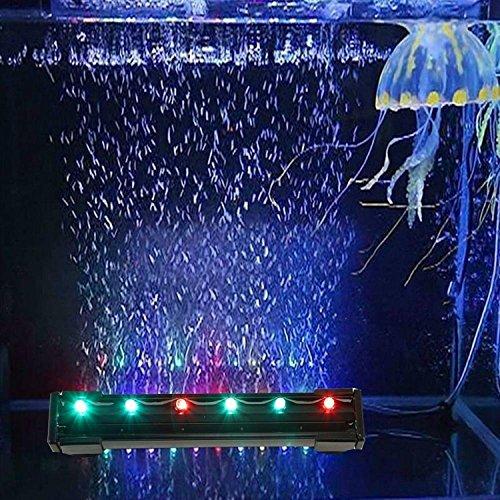 Asvert 16CM 6LEDs Lampen für Aquarium 1.2W RGB Wasserdicht Farbwechsel Beleuchtung Licht Aquarium Light Aquariumleuchte Unterwasser für Fische Dekorative mit EU Stecker