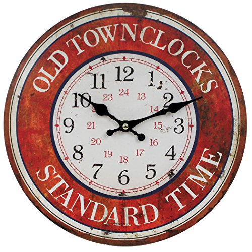 wanduhr-aus-holz-old-town-clocks-standard-time-rot-29cm-vintage-shabby-uhr-wb-wohn-trends