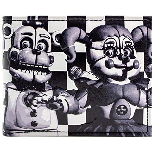 Five Nights at Freddys Schwester Ort Fazbear Horror Spiel Schwarz Portemonnaie (Freddy Kostüm Fazbear Cosplay)