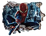 Chicbanners V302 Sticker Mural 3D Spiderman Motif Fissure 1000 mm x 600 mm