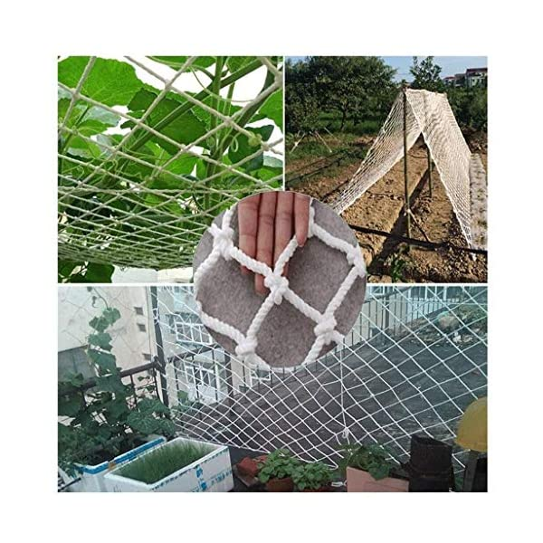 Balcony protection net, stair shatter-resistant net, terrace safety net, nursery fence net, playground park stadium fence net hammock swing (Size : 10 * 10M(33 * 33ft))  ◆ Safety net wire diameter 6MM, mesh spacing 10CM.Color: white rope net.Our protective mesh can be customized according to your needs. ◆Protective net material: Made of nylon braided rope, hand-woven, tightened.Exquisite workmanship, solid and stable, can withstand 300kg weight impact. ◆Features of decorative net: soft material, light mesh, multi-layer warp and weft, fine wiring, fine workmanship; clear lines, non-slip durable, anti-wear. 2