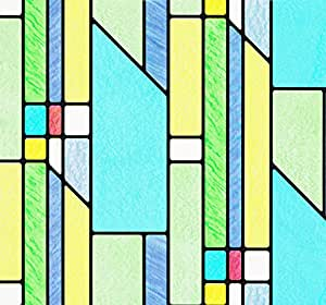 d-c-fix® Sticky Back Plastic (self adhesive vinyl window film) Stained Glass Effect Busko 45cm x 2m 346-0116
