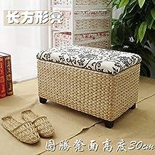 upper-Ratán Sofa HECES HECES de estante de madera maciza armarios,Totem50*30*31cm.