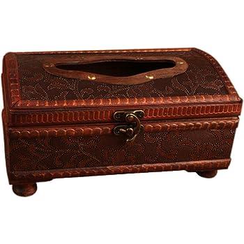 Demarkt Retro Holz Tissue Halter Box Cover