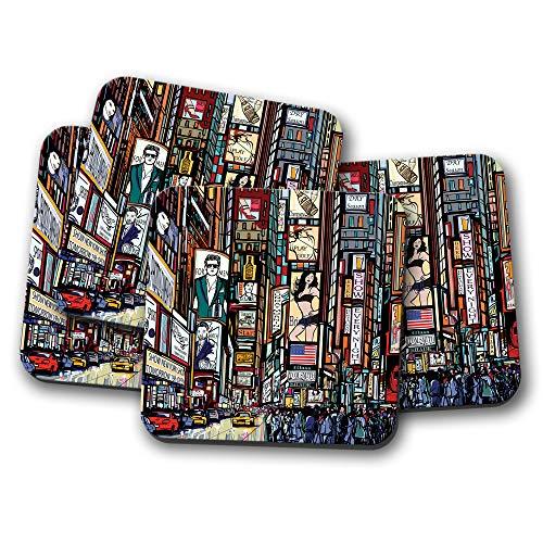 New York Pop Art Untersetzer - Times Square USA Amerika Reise Geschenk #15340