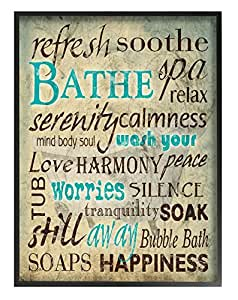 The Stupell Home Decor Collection Wash Your Worries' Typography Oversized Framed Giclee Texturized Art