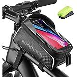 ROCKBROS Fahrrad Rahmentasche Wasserdicht Lenkertasche Oberrohrtasche Touchscreen für iPhone XR XS MAX X 8 7 6 Plus/Samsung G