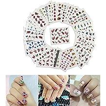 Haodou 50 pzs / set pegatina de transferencia de uñas Etiqueta de manicura Pegatinas de marca de agua para el arte del clavo.