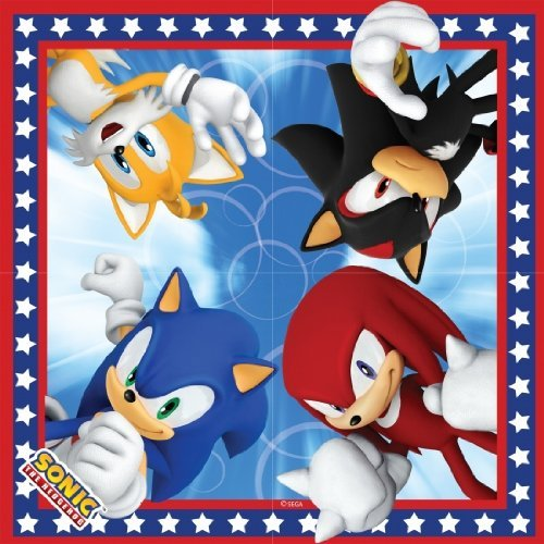 Sonic The Hedgehog Party Napkins - 16