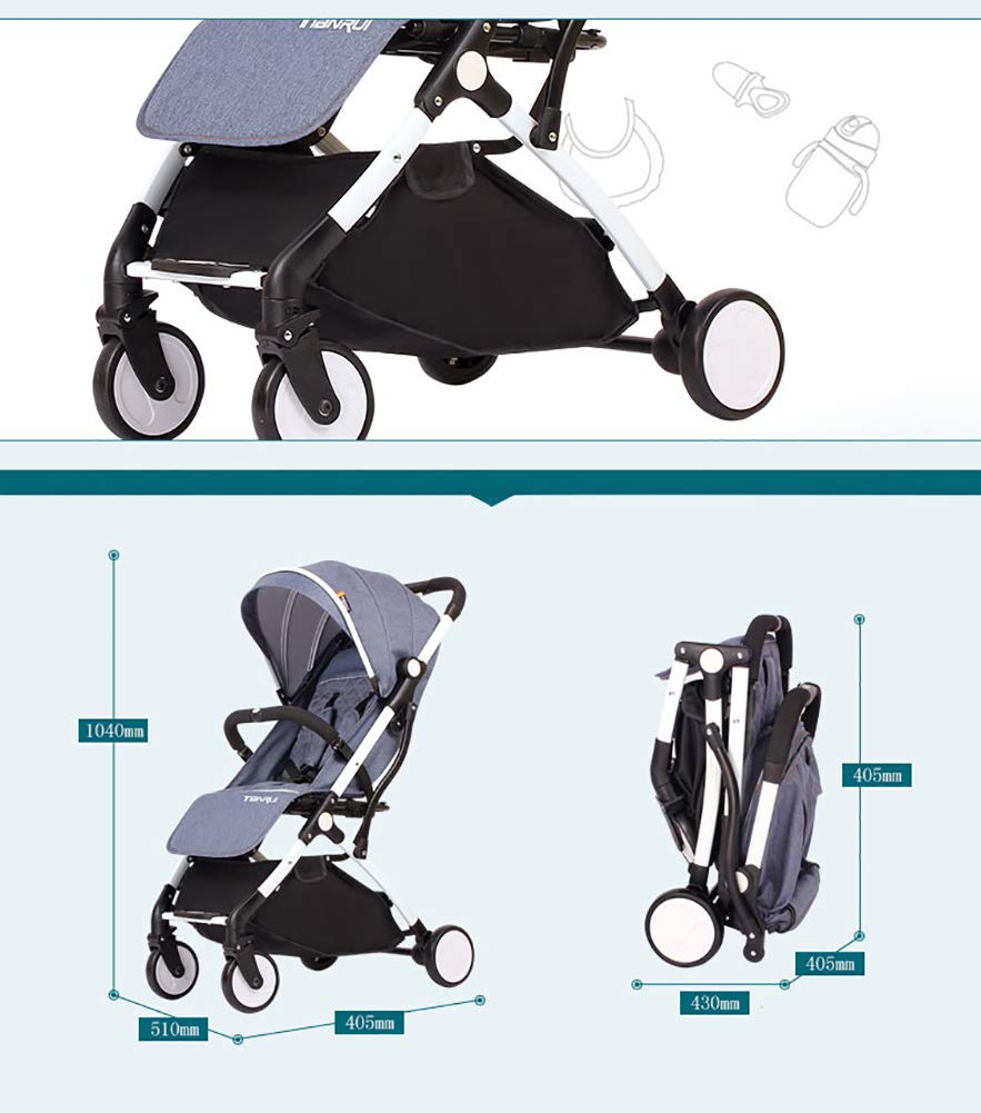 nauy twin baby stroller detachable child trolley lightweight folding portable double carriage. Black Bedroom Furniture Sets. Home Design Ideas